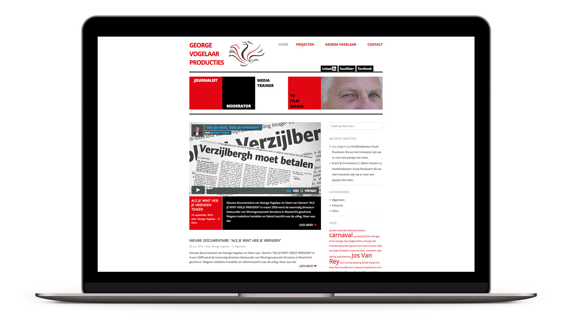 Website George Vogelaar Producties