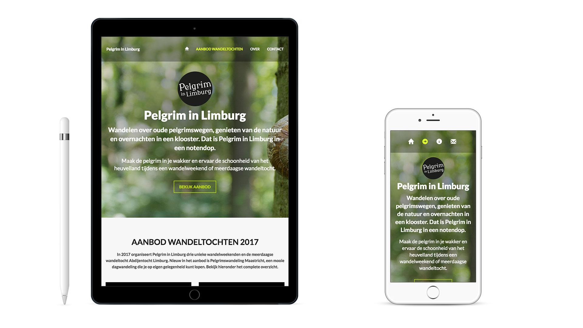 Website Pelgrim in Limburg