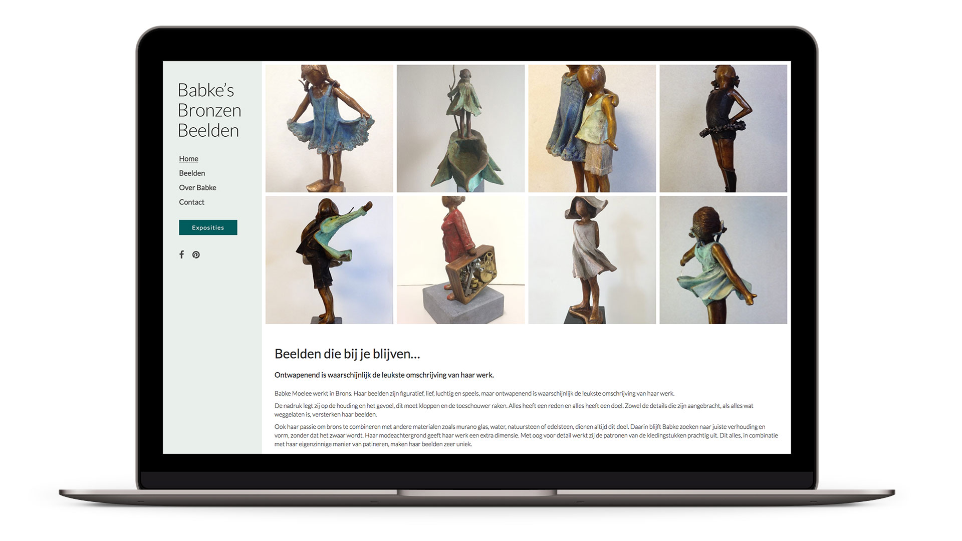 Website Babke's Bronzen Beelden