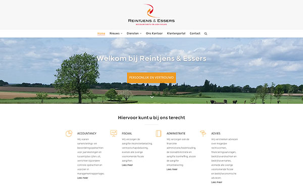 Website Accountantskantoor Reintjens & Essers