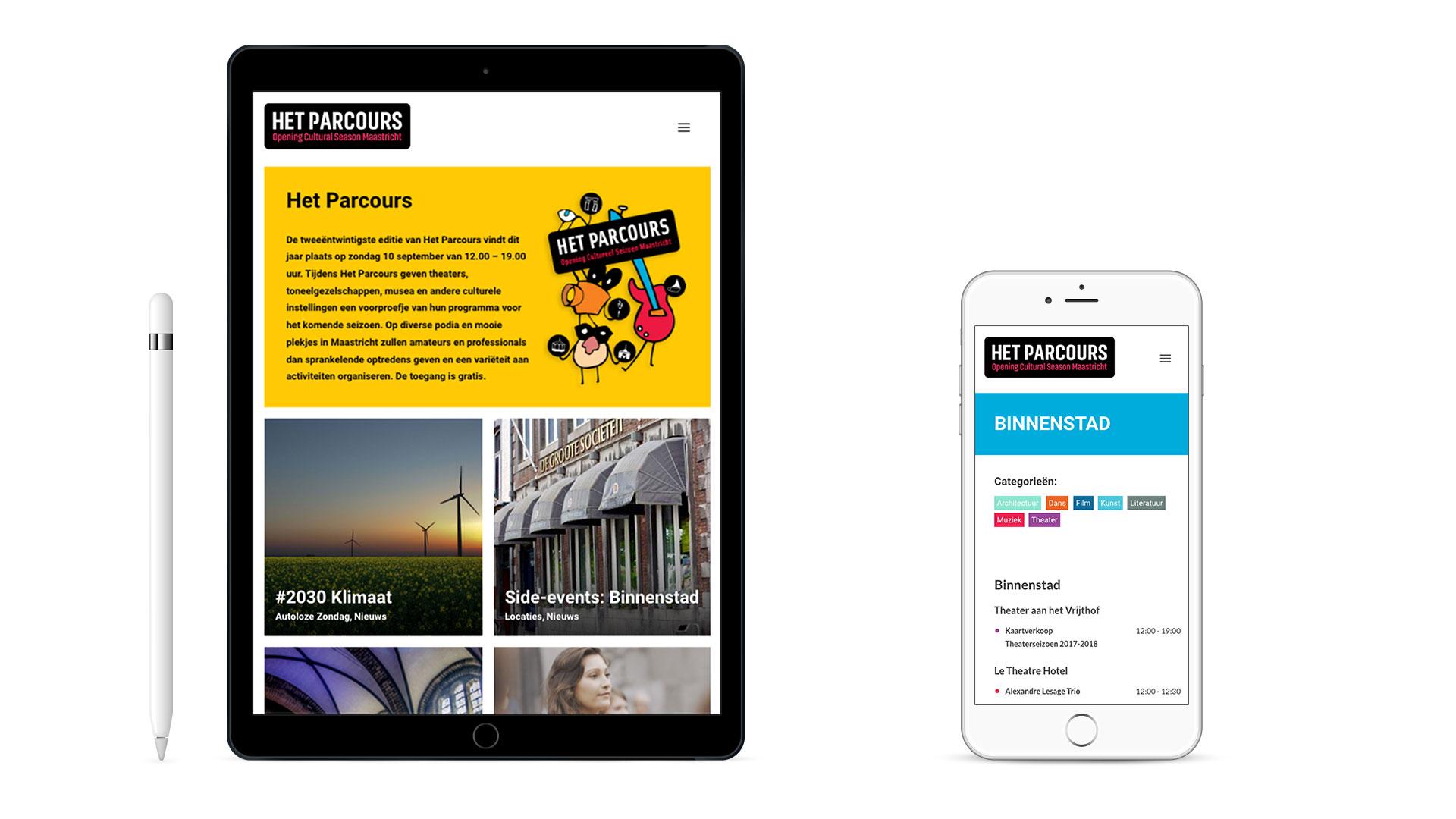 Webdesign Het Parcours Maastricht