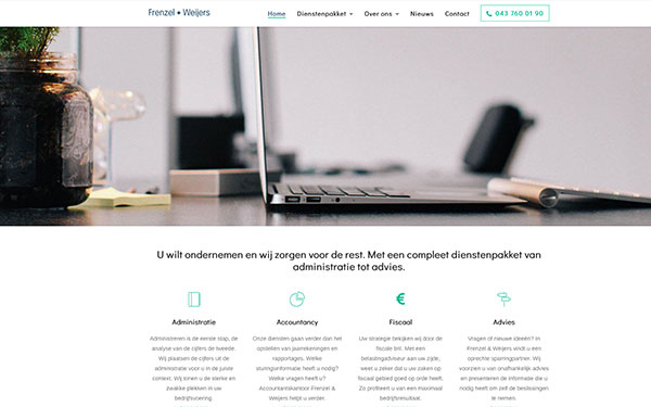 Website Frenzel & Weijers Accountants