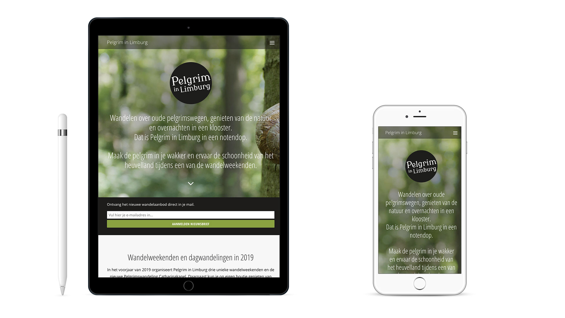 Website Pelgrim in Limburg