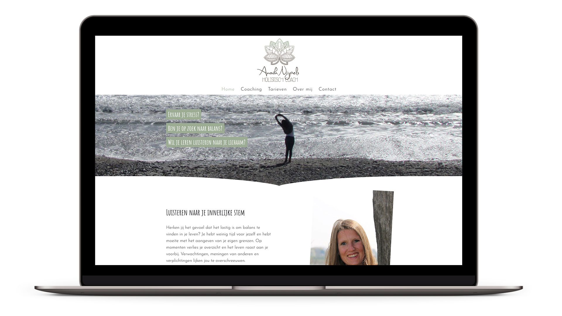 Website Anouk Nijpels Holistisch Coach