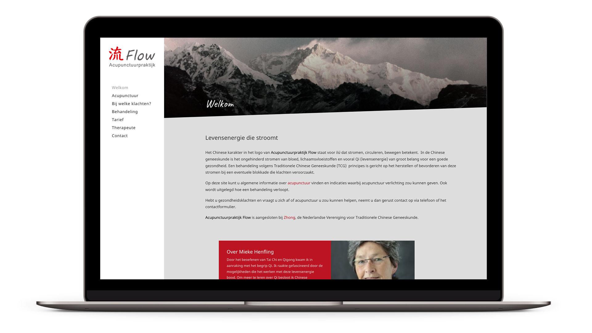 Website Acupunctuurpraktijk Flow